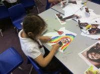 Y1 Art and History inspired by Bob Marley as part of Black History Month